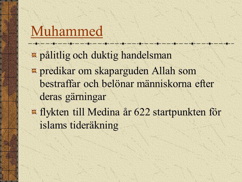 Muhammed pålitlig och duktig handelsman