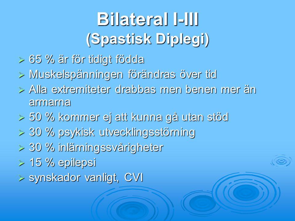 Bilateral I-III (Spastisk Diplegi)
