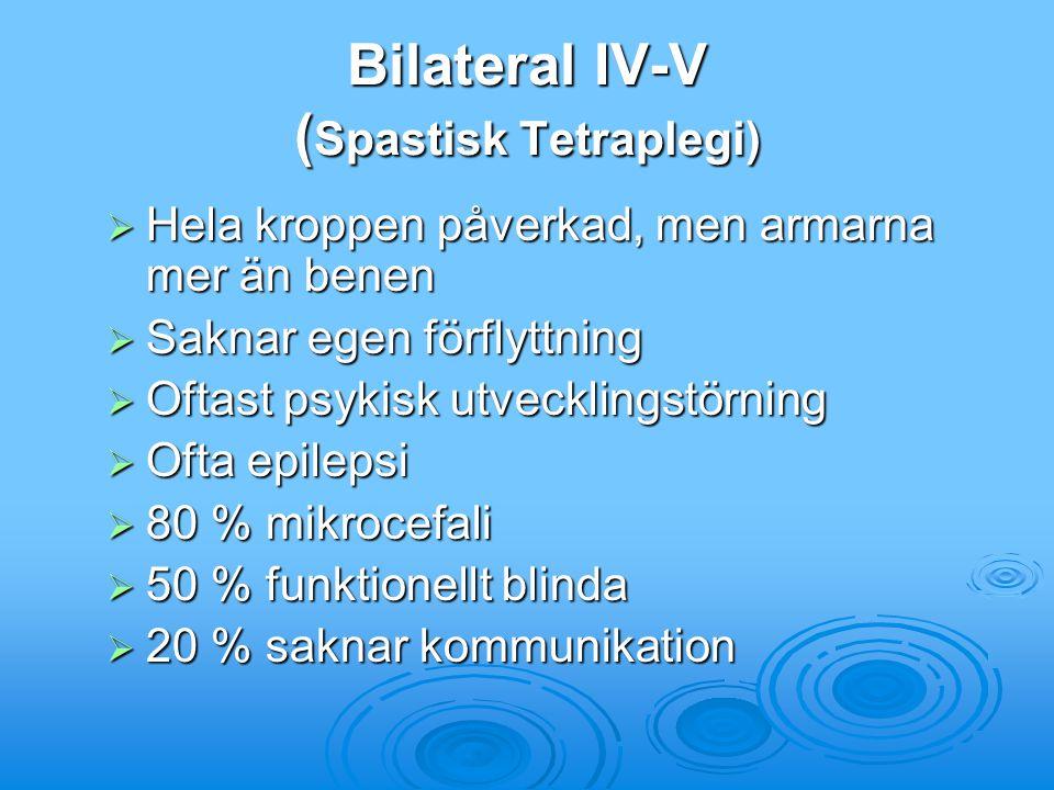 Bilateral IV-V (Spastisk Tetraplegi)