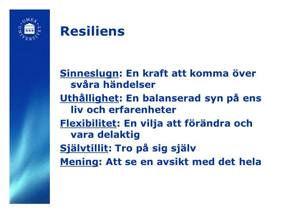 Resiliens Sinneslugn: En kraft att komma över svåra händelser