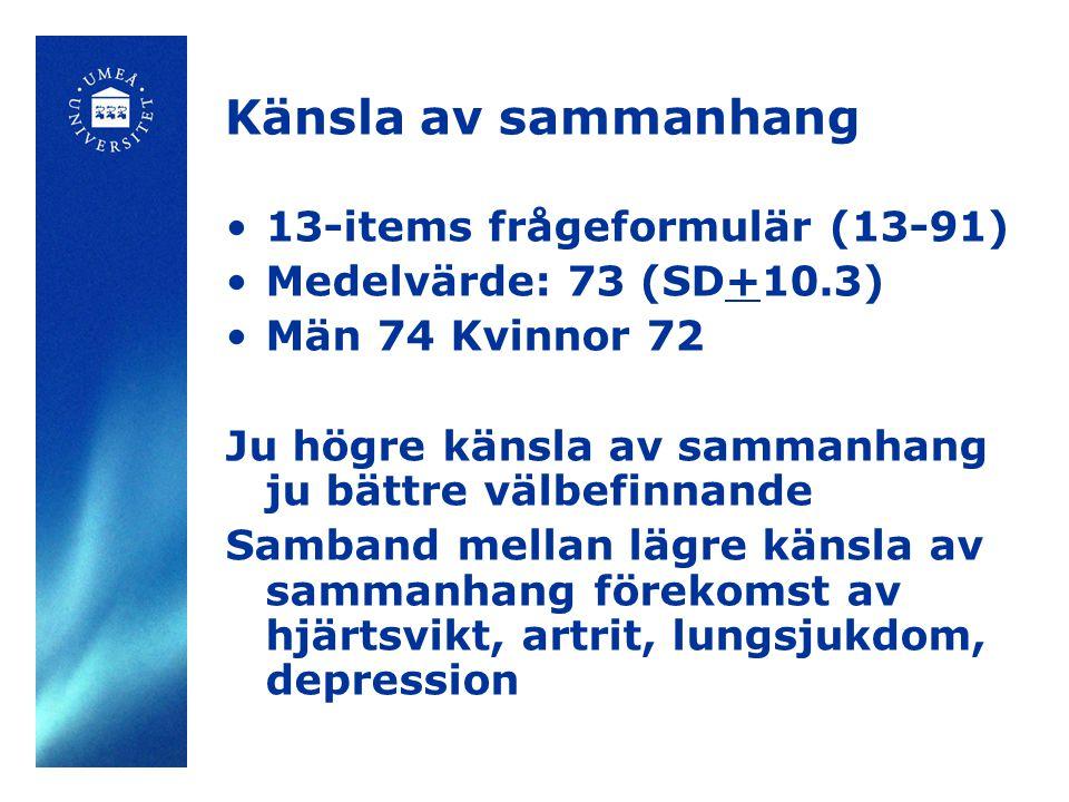 Känsla av sammanhang 13-items frågeformulär (13-91)