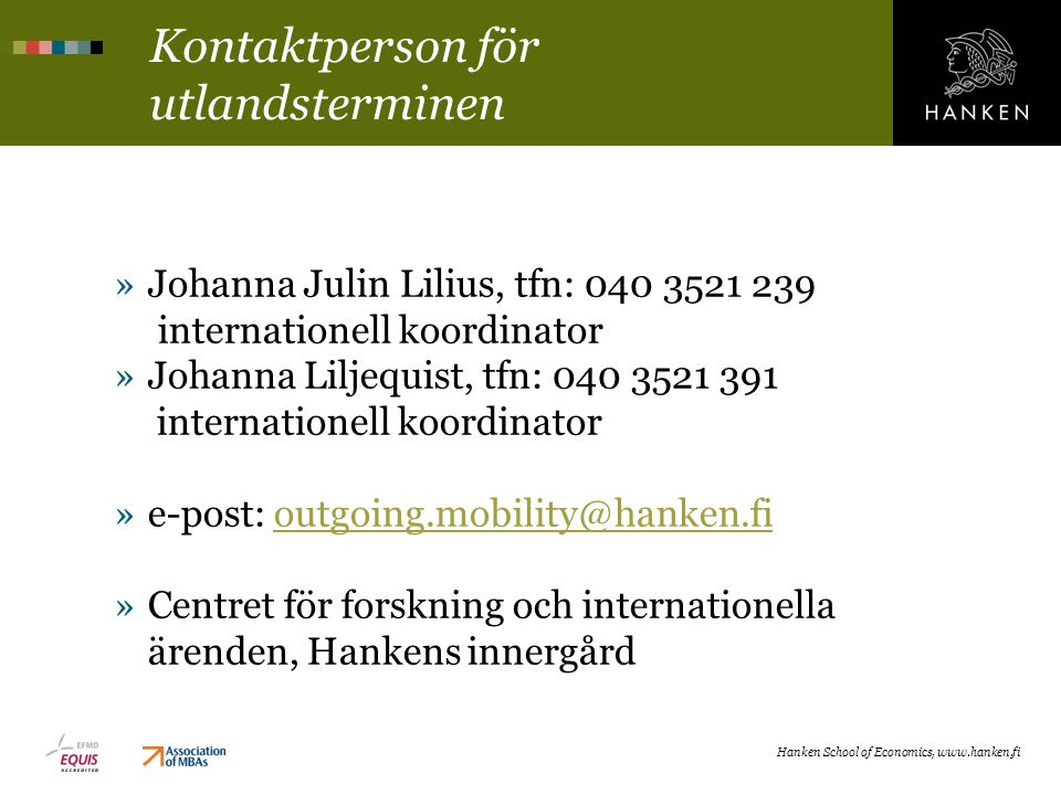 Kontaktperson för utlandsterminen