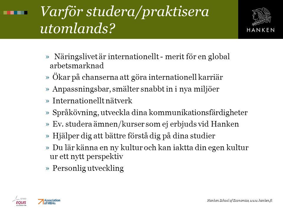 Varför studera/praktisera utomlands