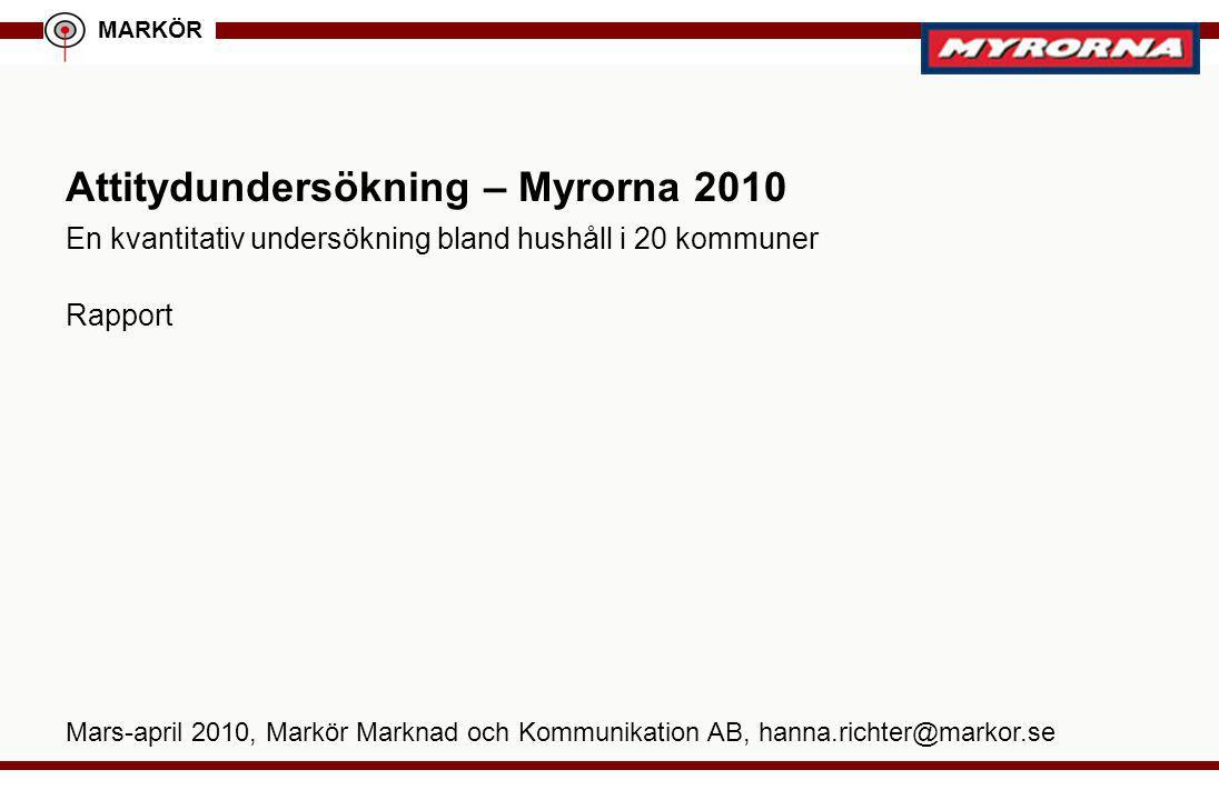 Attitydundersökning – Myrorna 2010