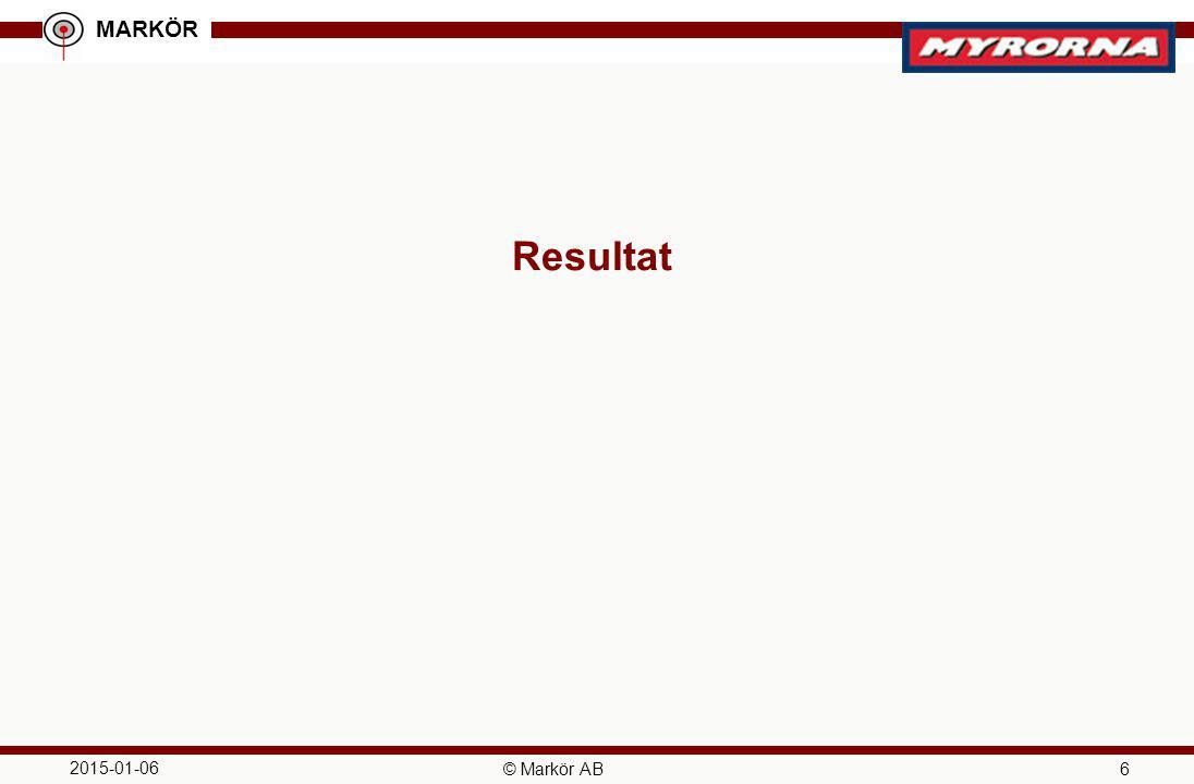 Resultat 2017-04-08 © Markör AB