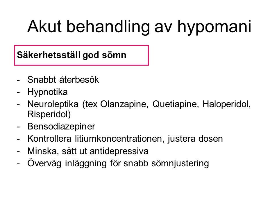 Akut behandling av hypomani