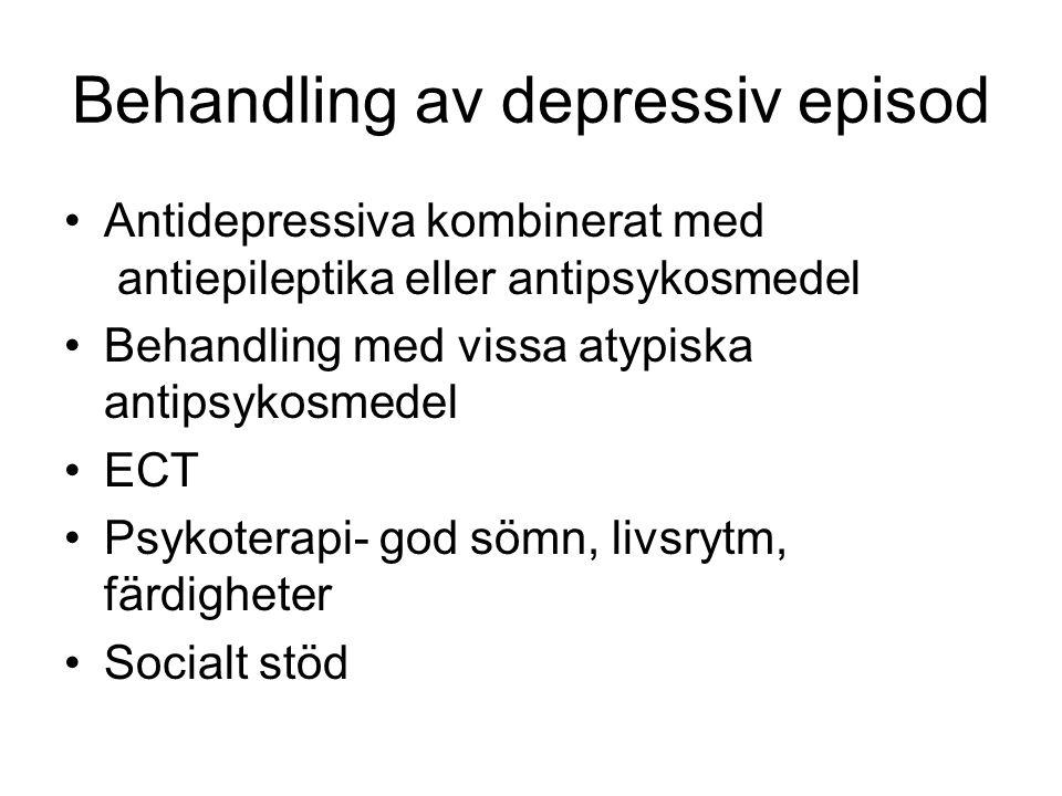 Behandling av depressiv episod