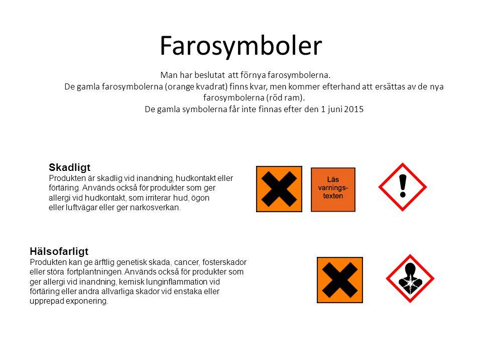 Farosymboler Skadligt Hälsofarligt