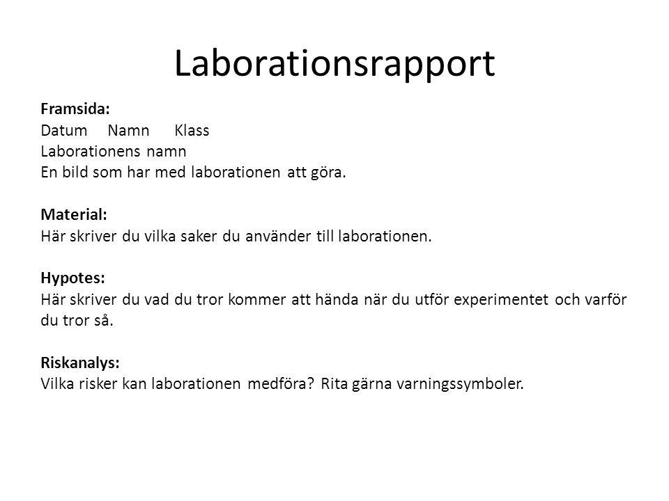 Laborationsrapport