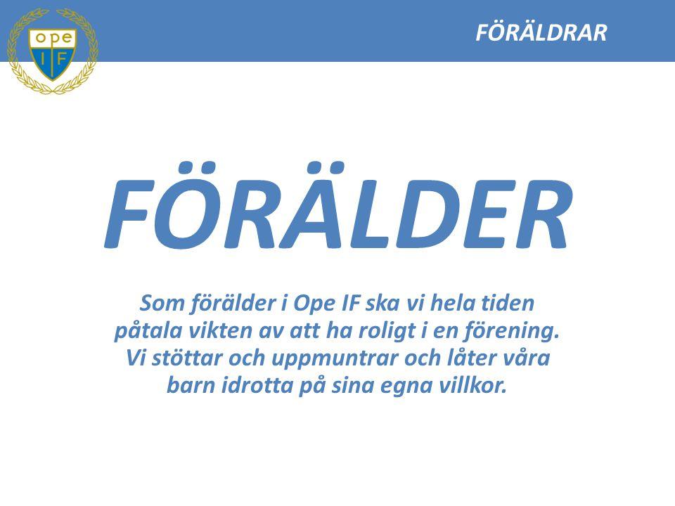FÖRÄLDRAR FÖRÄLDER.