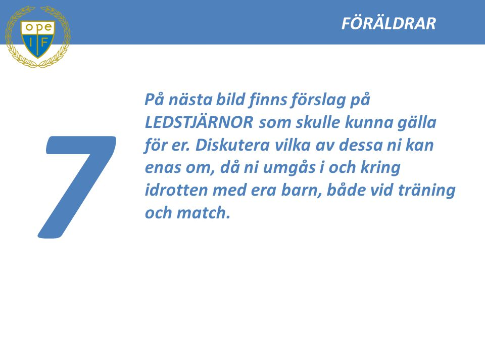 FÖRÄLDRAR 7.
