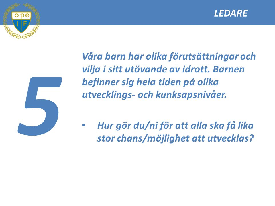 LEDARE 5.