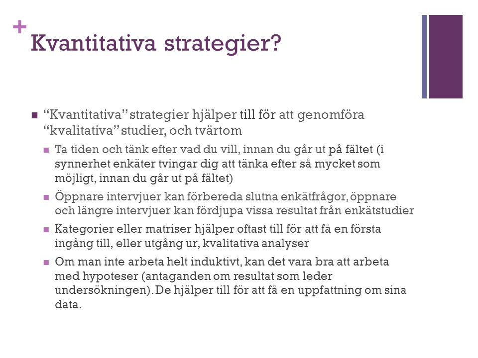 Kvantitativa strategier