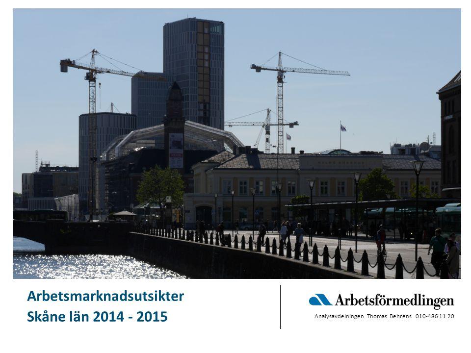 Arbetsmarknadsläget Skåne  mars 2013