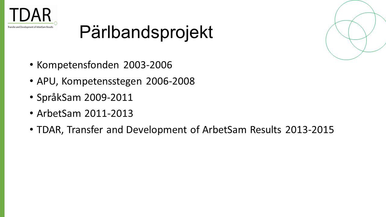 Pärlbandsprojekt Kompetensfonden 2003-2006
