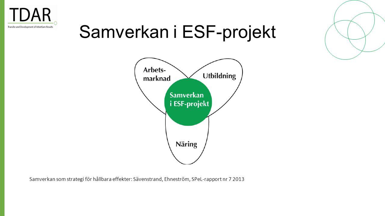 Samverkan i ESF-projekt
