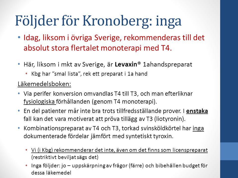 Följder för Kronoberg: inga