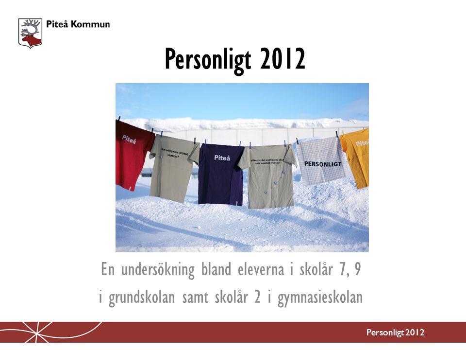 Personligt 2012 En undersökning bland eleverna i skolår 7, 9