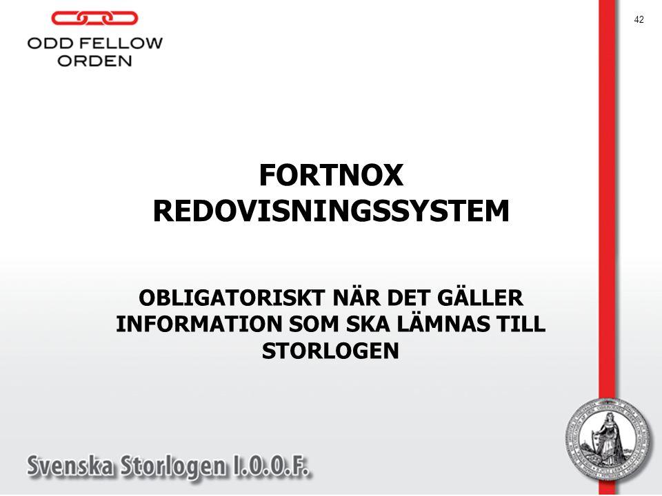 FORTNOX REDOVISNINGSSYSTEM