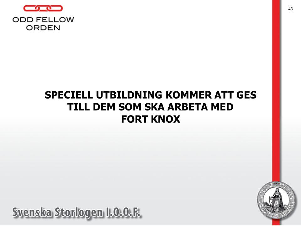 SPECIELL UTBILDNING KOMMER ATT GES TILL DEM SOM SKA ARBETA MED