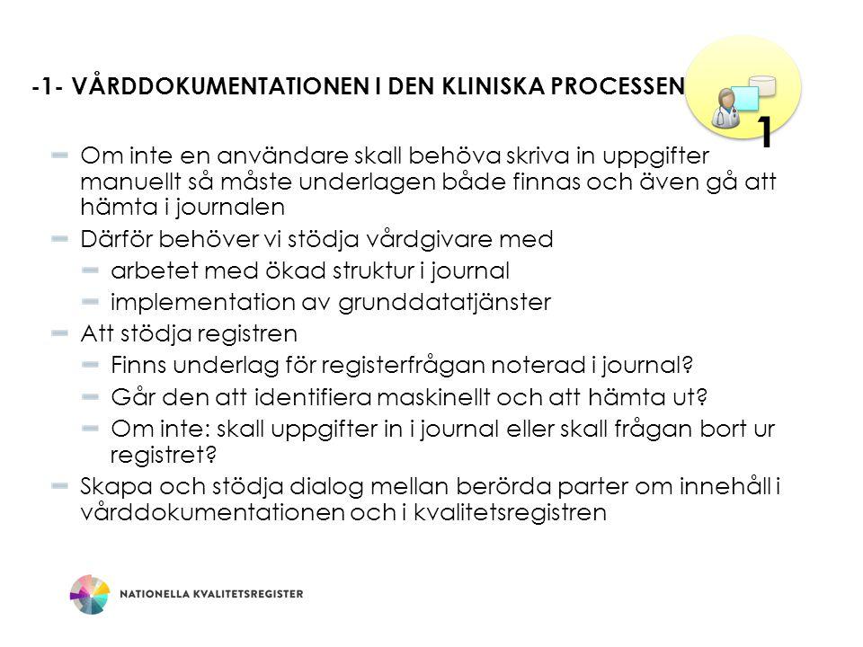 -1- Vårddokumentationen i den kliniska processen