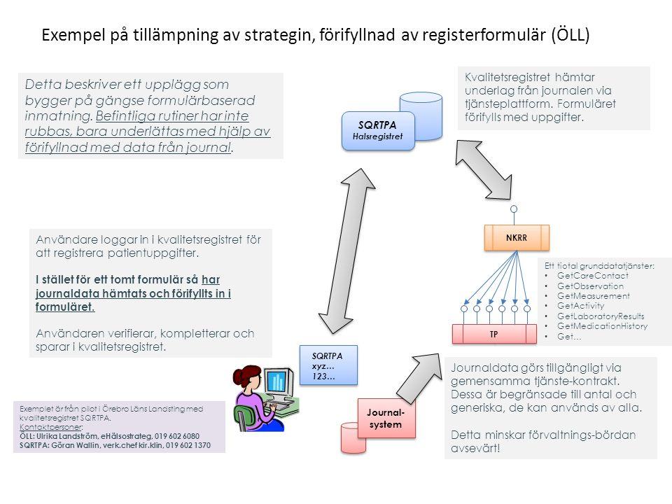 Exempel på tillämpning av strategin, förifyllnad av registerformulär (ÖLL)