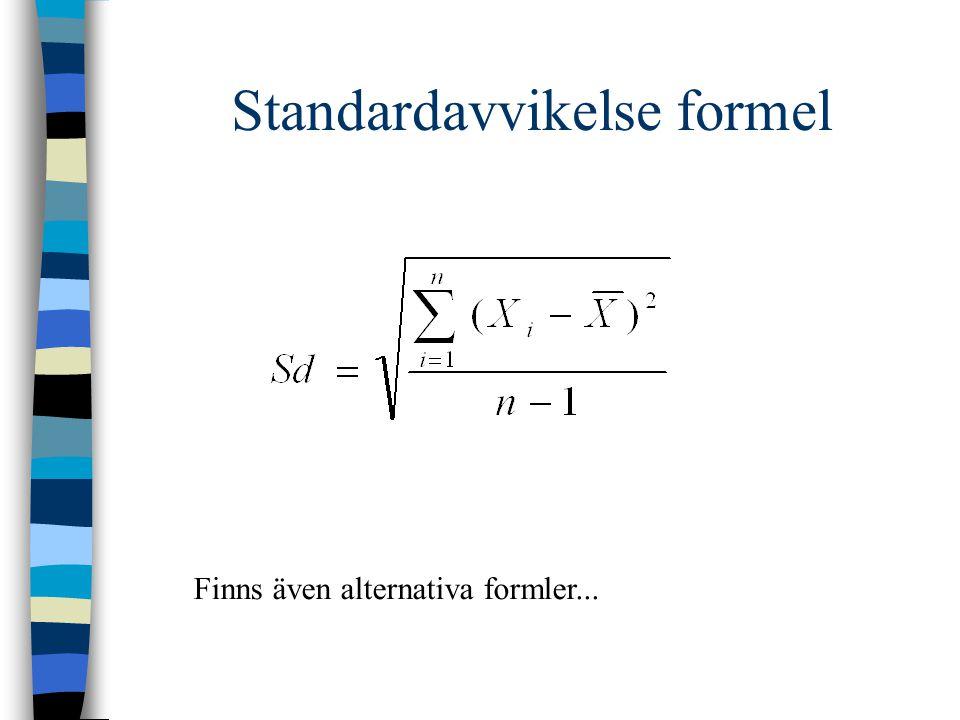 Standardavvikelse formel