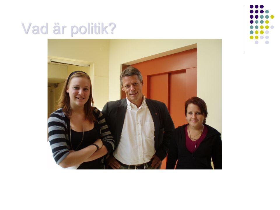 Vad är politik