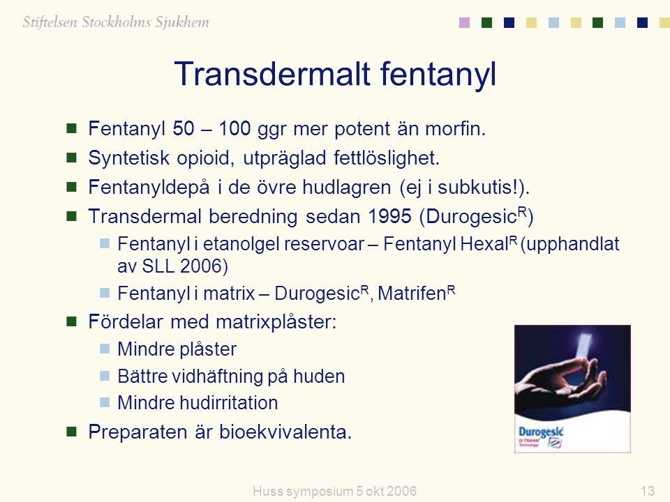 Transdermalt fentanyl