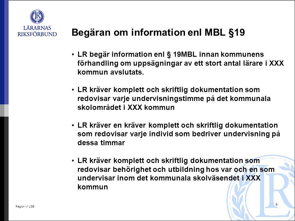 Begäran om information enl MBL §19