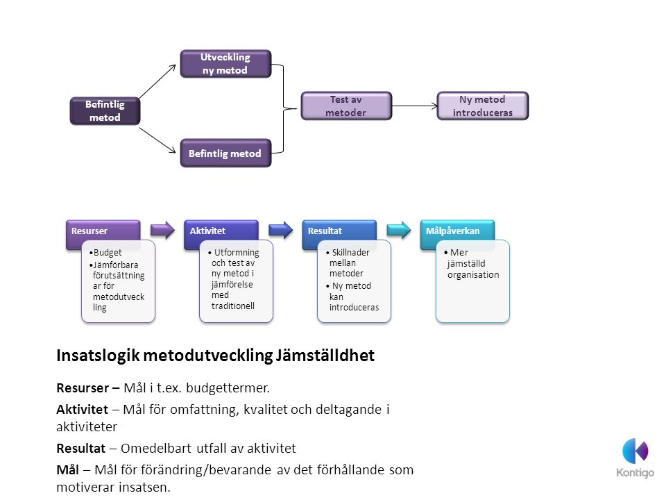 Insatslogik metodutveckling Jämställdhet