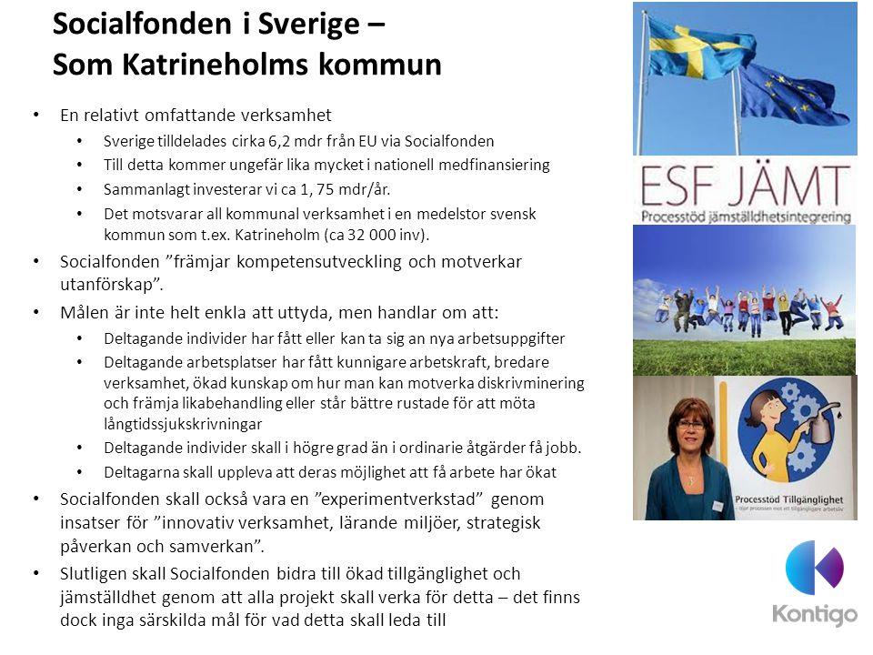 Socialfonden i Sverige – Som Katrineholms kommun