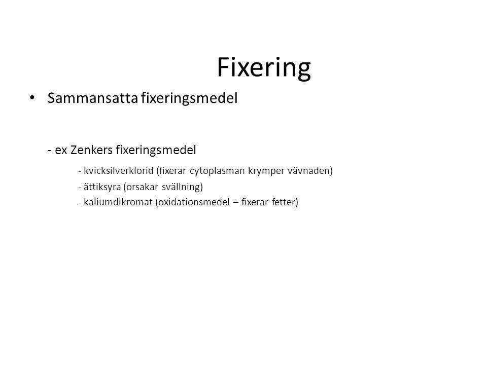 Fixering Sammansatta fixeringsmedel - ex Zenkers fixeringsmedel