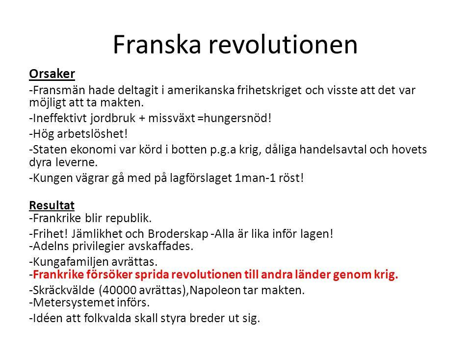 Franska revolutionen Orsaker