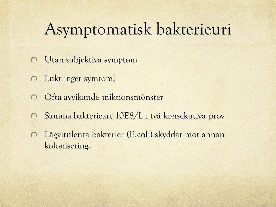 Asymptomatisk bakterieuri