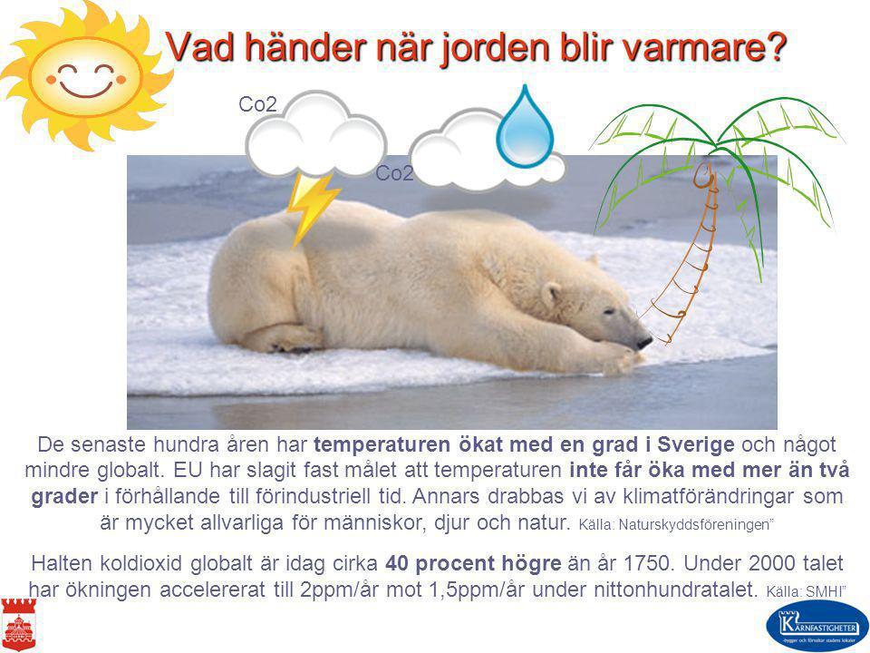 Vad händer när jorden blir varmare
