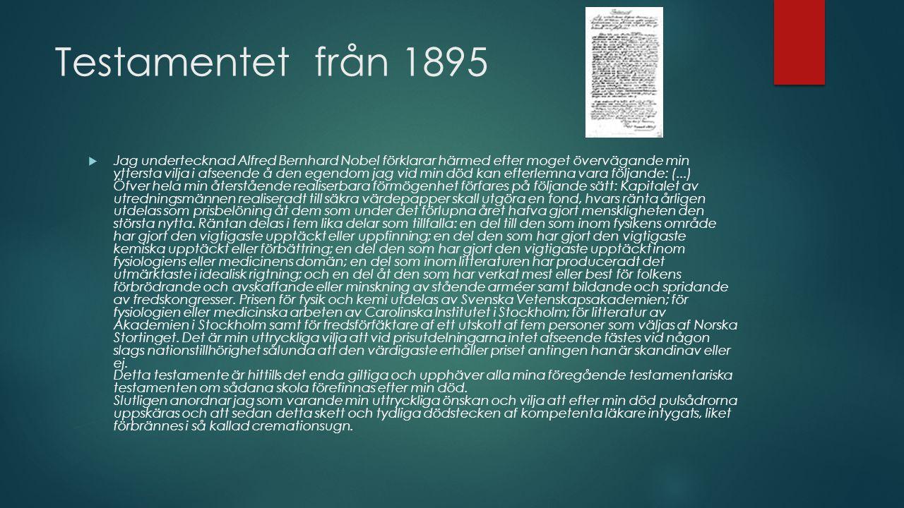 Testamentet från 1895