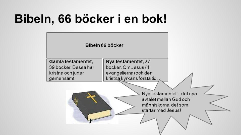 Bibeln, 66 böcker i en bok! Bibeln 66 böcker Gamla testamentet,