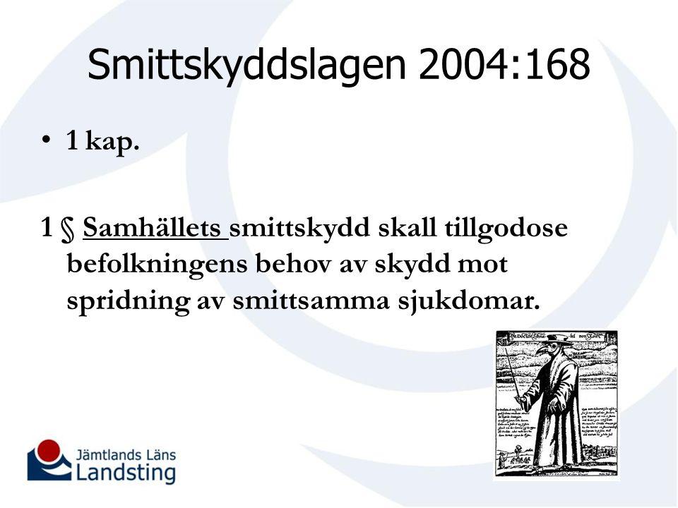 Smittskyddslagen 2004:168 1 kap.