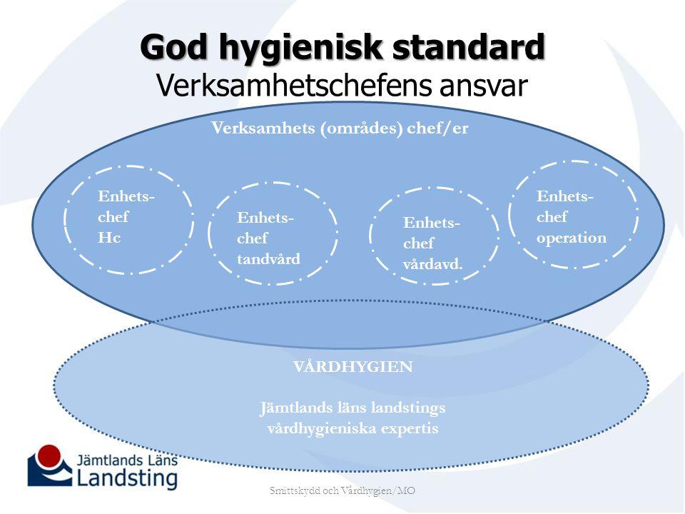 God hygienisk standard Verksamhetschefens ansvar