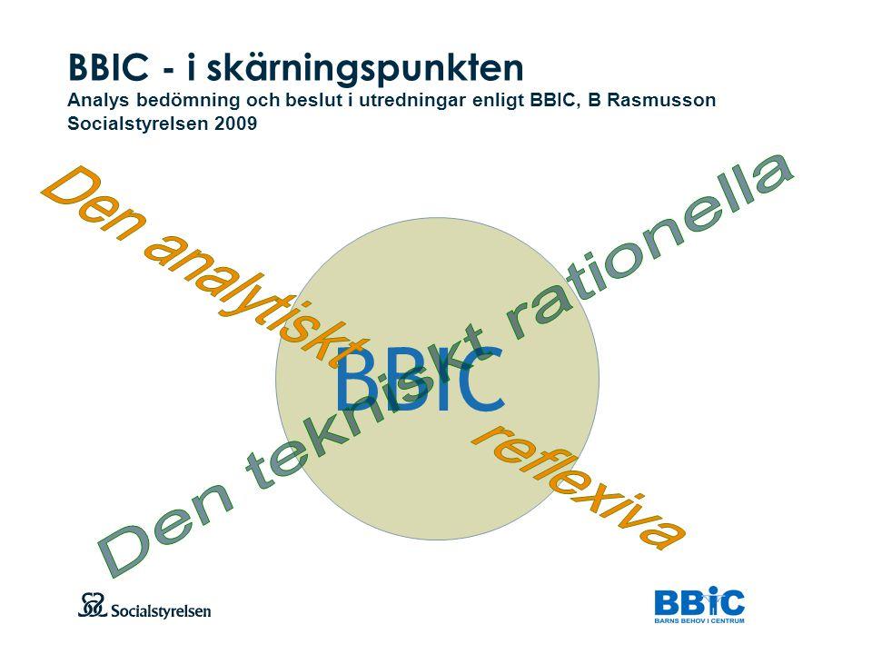 BBIC Den analytiskt reflexiva Den tekniskt rationella