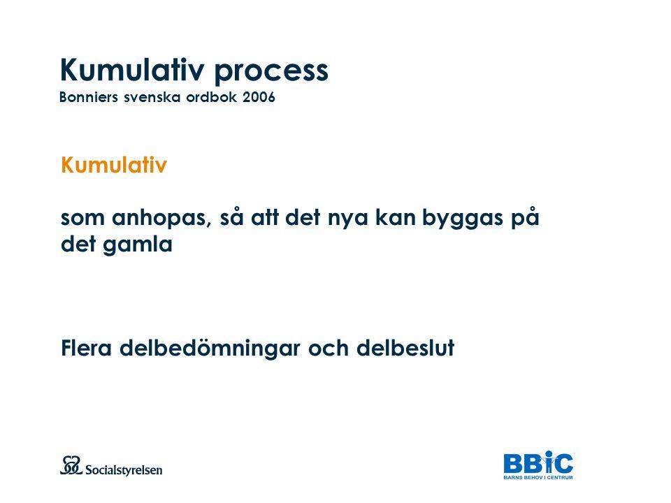 Kumulativ process Bonniers svenska ordbok 2006