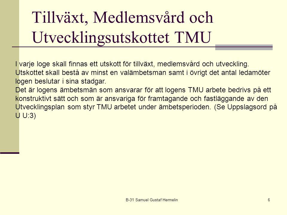 Tillväxt, Medlemsvård och Utvecklingsutskottet TMU