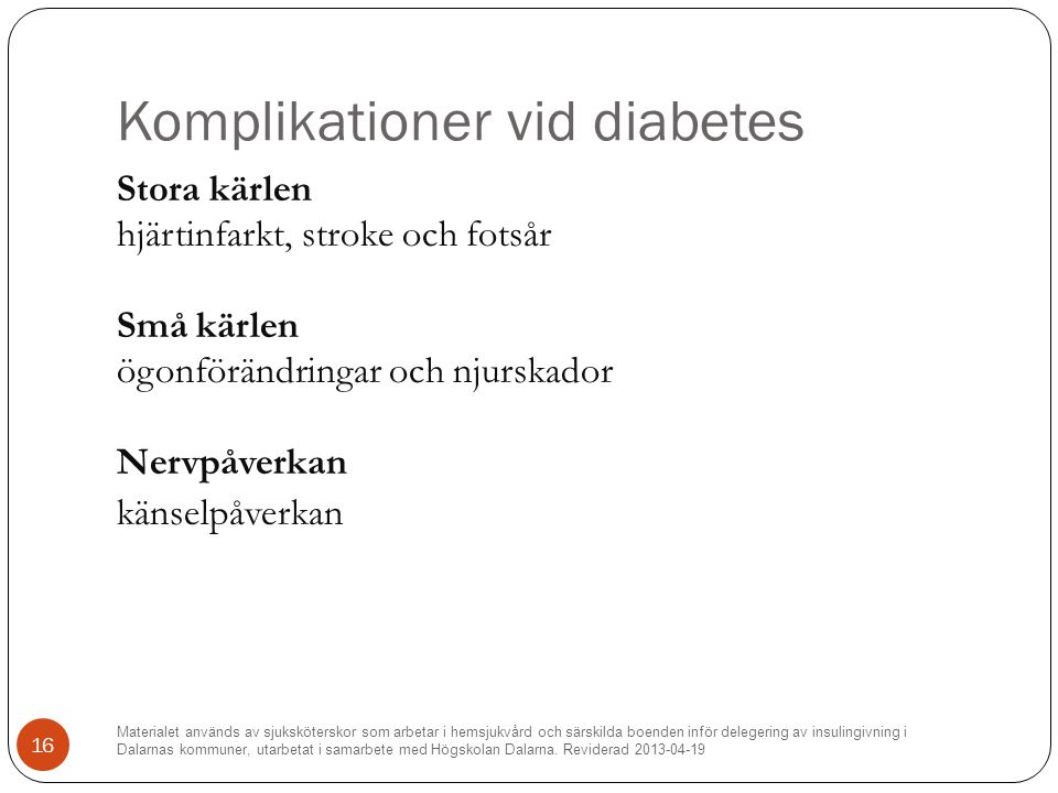 Komplikationer vid diabetes