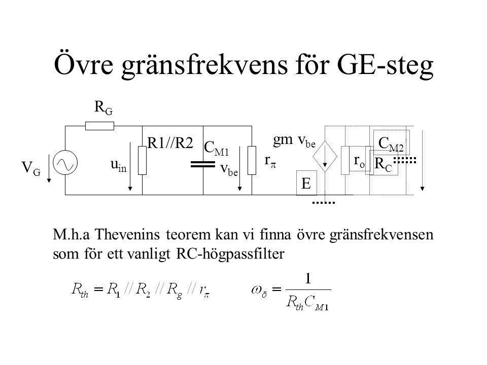 Övre gränsfrekvens för GE-steg