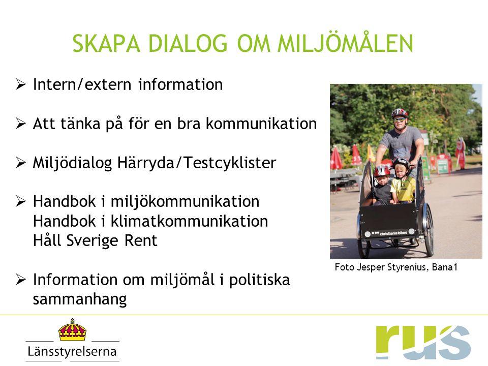 SKAPA DIALOG OM MILJÖMÅLEN