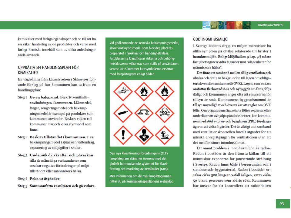 Vi beskriver hur kommunen med fördel kan upprätta en handlingsplan för kemikalier.
