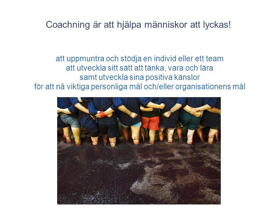 Coachning är att hjälpa människor att lyckas!