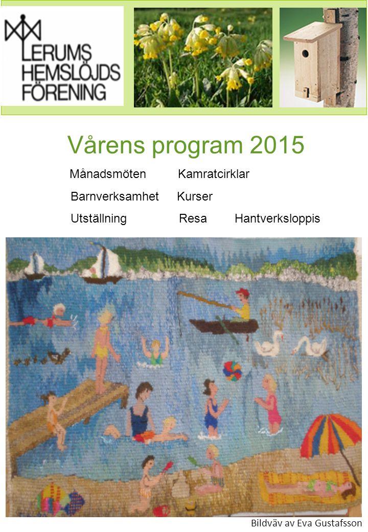 Vårens program 2015 Barnverksamhet Kurser
