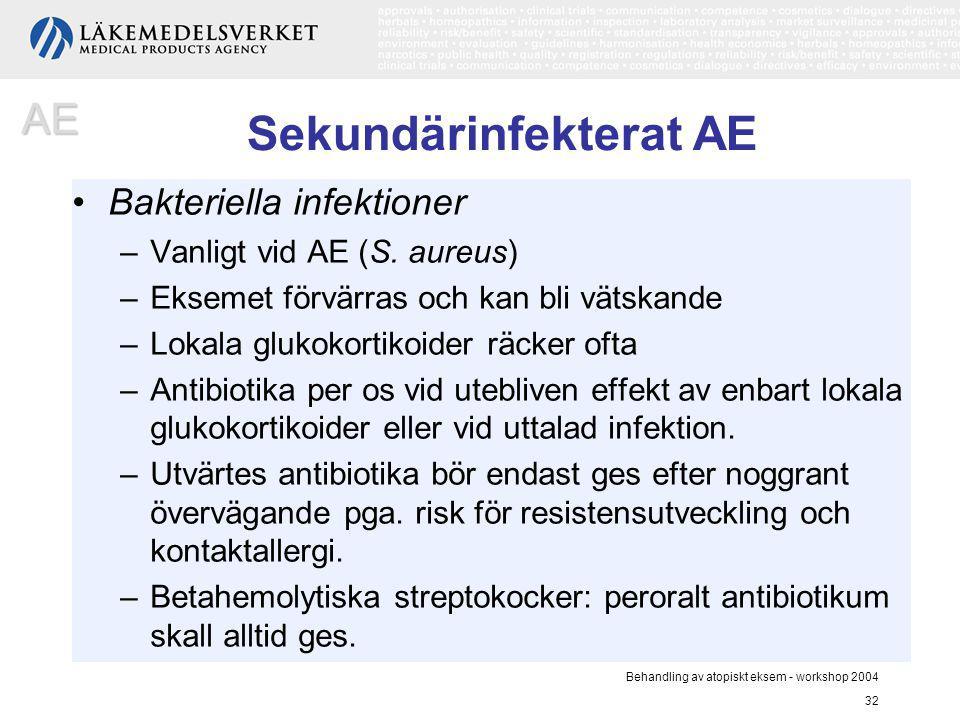 Sekundärinfekterat AE